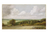 Landscape: Ploughing Scene in Suffolk (A Summerland) C1824 (Oil on Canvas)