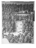 Boscobel House and Park  1651 (Engraving)