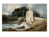 The Abbey Mill  Knaresborough  C1801 (W/C with Bodycolour over Graphite on Laid Paper)