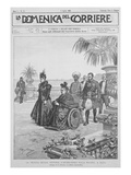 Queen Victoria on the Italian Riviera  Frontcover of 'La Domenica Del Corriere'  2nd April 1899