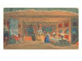 Stage Design for Rimsky-Korsakov's Opera the 'The Tsar's Bride'  1920 (W/C and Gouache on Paper)