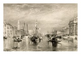 The Grand Canal  Venice  Engraved by William Miller (1796-1882) 1838-52 (Engraving)