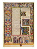 Fol3V Prologue to the Book of the Prophets (Isaiah)  from the Borso D'Este Bible Vol 2 (Vellum)