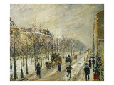 The Boulevards under Snow  1879 (Oil on Canvas)