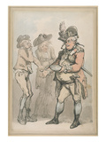 The Recruiting Sergeant  C1790 (Pen and Ink and W/C on Paper)