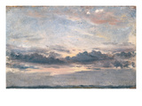 A Cloud Study  Sunset  C1821 (Oil on Paper on Millboard)