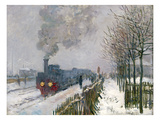 Train in the Snow or the Locomotive  1875 (Oil on Canvas)
