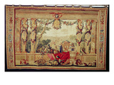 The Month of October/ Chateau of the Tuileries  from the Series of Tapestries