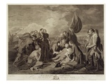 The Death of General Wolfe (1727-59)  Engraved by William Woollett (1735-85) C1776 (Engraving)