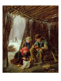 The Woodcutter&#39;s Meal  1873 (Oil on Panel)