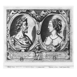 Pierre De Ronsard  Aged 27 and Cassandre Salviati (Engraving) (B/W Photo)