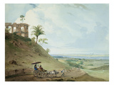 Ruins on Pir Pihar  Near Monghy  Bihar  1790 (W/C over Graphite on Paper)