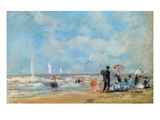 On the Beach  1863 (W/C and Pastel on Paper)