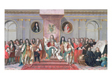 James II (1633-1701) Receiving the Mathematical Scholars of Christ's Hospital Gouache on Paper)