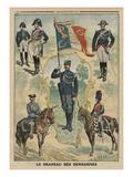 The Flag of the Gendarmes  Front Cover Illustration from 'Le Petit Journal'  Supplement Illustre