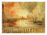 The Burning of the Houses of Parliament  Previously Attributed to JMW Turner (1775-1851)