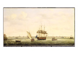 The Frigate 'surprise' at Anchor Off Great Yarmouth  Norfolk  c1775