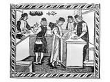 Florentine Bank  1490 (Woodcut)