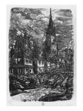 Fishing Port with Pointed Steeple  1860 (Etching)
