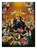 Coronation of the Virgin (Oil on Canvas)