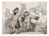 The Connoisseurs  C1790 (Pen  Ink and W/C over Graphite on Mounted Wove Paper)