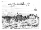 The Swan Theatre on the Bankside as it Appeared in 1614 (Engraving)