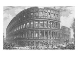 View of the Flavian Amphitheatre  known as the Colosseum from 'Vedute'  First Published in 1756
