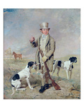 Richard Prince  with Damon  the Late Colonel Mellish's Pointer (Oil on Canvas)