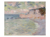 Cliffs and the Porte D&#39;Amont  Morning Effect  1885 (Oil on Canvas)