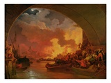 The Great Fire of London  c1797