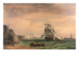Men-O'-War and Small Craft at Portsmouth Harbour  Late 18th or Early 19th Century