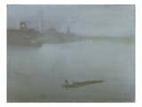 Thames - Nocturne in Blue and Silver  C1872/8 (Oil on Canvas)