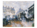 The Pont De L&#39;Europe  Gare Saint-Lazare  1877 (Oil on Canvas)