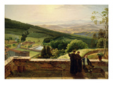 View of Vallombrosa  Near Florence (Oil on Canvas)