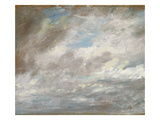 Cloud Study  C1821 (Oil on Paper Laid on Card)