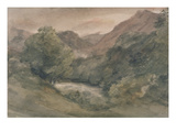 Borrowdale  Evening after a Fine Day  October 1  1806 (W/C over Graphite on Paper)