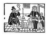 A Family Group (Woodcut)
