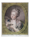 The Woman Taking Coffee  C1774 (Crayon Engraving  Coloured and Heightened with Gold)