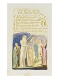 The Voice of the Ancient Bard&#39;  Plate 31 from &#39;songs of Innocence&#39;  1789 (Relief Etching with W/C)