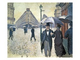 Sketch for &#39;Paris  a Rainy Day&#39;  1877 (Oil on Canvas)  Pre-Restoration (See 181504)
