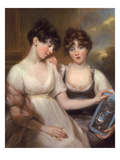 Portrait of Anne and Maria Russell  1804 (Coloured Chalks and Pastel)