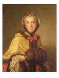 Portrait of Louis-Henriette De Bourbon-Conti  with Muffler