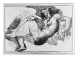Leda  after a Drawing by Michelangelo Buonarroti (1475-1564) 1822 (Pen and Ink on Paper)