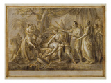 Achilles Lamenting the Death of Patroclus  1760-63 (Pen and Ink and Wash on Paper)