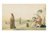 Dante (1265-1321) Meditating in the Cascine Garden  Florence (W/C on Paper)