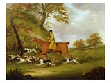 Huntsman and Hounds  1809 (Oil on Canvas)