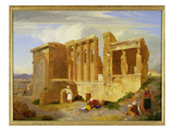The Erechtheum  Athens  with Figures in the Foreground  1821