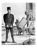 The New Victory Chariot'  Caricature from 'Le Charivari'  20 February  1871 (Litho)