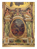 Re-Establishment of Navigation Rights in 1663  Ceiling Painting from the Galerie Des Glaces