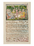 Laughing Song'  Plate 26 from 'Songs of Innocence and of Experience' [Bentley 15] C1789-94